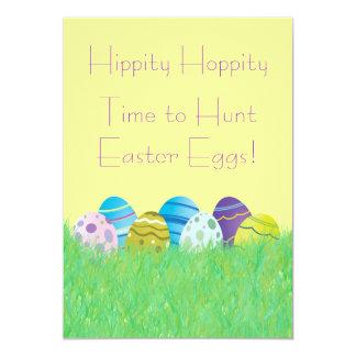 "Easter Egg Hunt Invitations 5"" X 7"" Invitation Card"