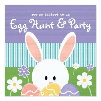 "Easter Egg Hunt Invitations 5.25"" Square Invitation Card"