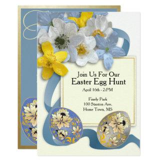 Easter Egg Hunt Invite #3 Blue Ribbon