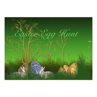 Easter Egg Hunt Landscape Invitation