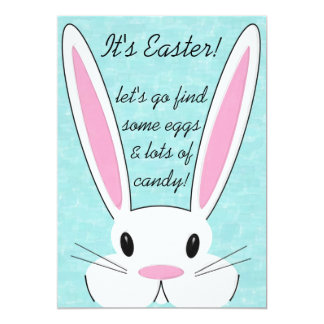 "Easter Egg Hunt Party Invitation 5"" X 7"" Invitation Card"