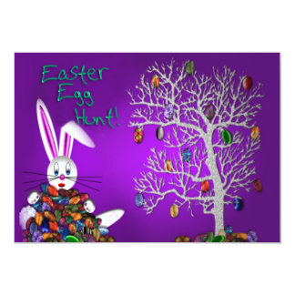 """Easter Egg Hunt Party 5"""" X 7"""" Invitation Card"""