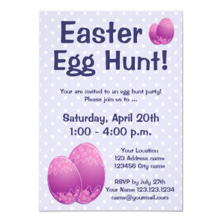 Easter egg hunt party invitations for kids