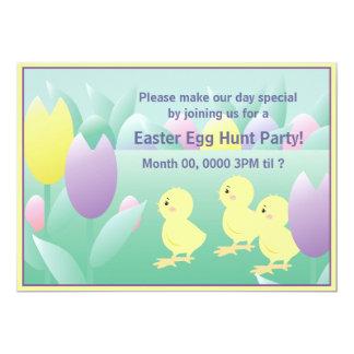 "Easter Egg Hunt Party Invite 5"" X 7"" Invitation Card"