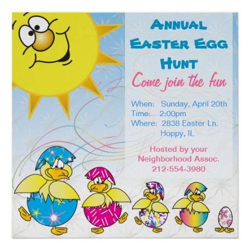 Easter Egg Hunt Poster Announcement Poster
