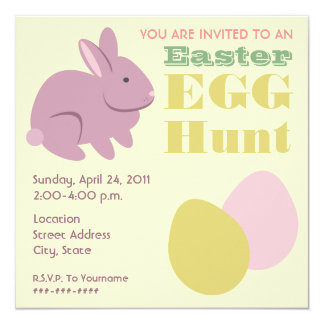 Easter Egg Hunt - Purple Bunny Card