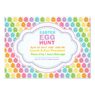 Easter Egg Hunt Rainbow Invitations