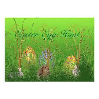 Easter Egg Hunt Scene Invitation