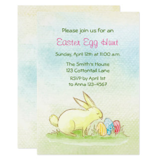 Easter Egg Hunt Watercolor 13 Cm X 18 Cm Invitation Card