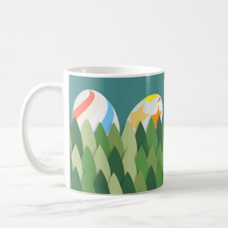 Easter Egg Hunt with Grass Background Coffee Mug