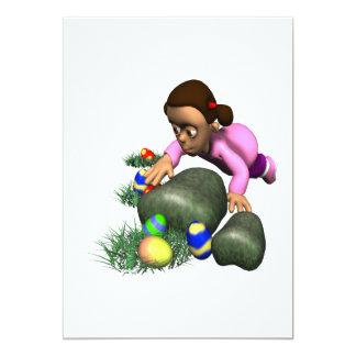 Easter Egg Hunting 13 Cm X 18 Cm Invitation Card