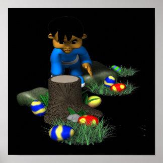 Easter Egg Hunting Print