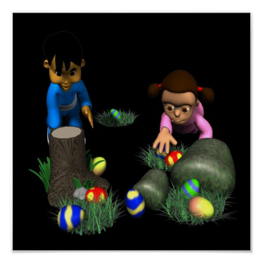 Easter Egg Hunting Posters