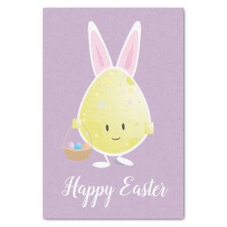 Easter Egg in Bunny Outfit   Tissue Paper