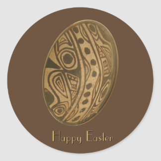 Easter Egg Mayan Design Classic Round Sticker