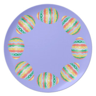 Easter Egg Plates Classic Easter Party Decor Plate