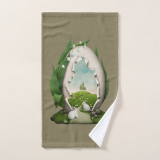 Easter Egg Rabbits Hand Towel