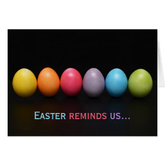 Easter Egg Rainbow Colors of Love Card
