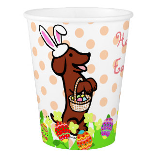 Easter Egg Red Smooth Haired Dachshund Cup