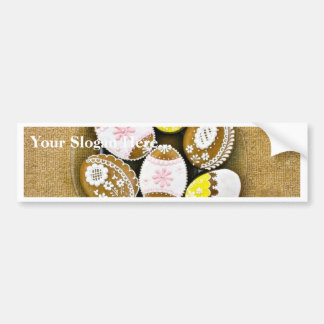 Easter Egg Shaped Biscuits On The Plate Bumper Stickers