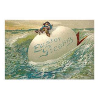 Easter Egg Ship Pirate Chicken Ocean Sea Photograph