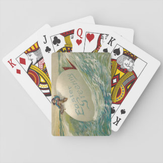 Easter Egg Ship Pirate Chicken Ocean Sea Poker Cards