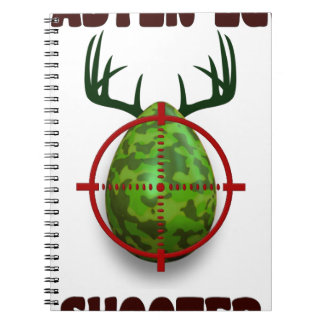 easter egg shooter, funny easter deer gift desgin note book