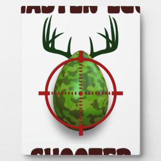 easter egg shooter, funny easter deer gift desgin plaque