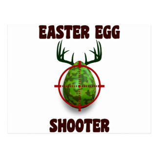 easter egg shooter, funny easter deer gift desgin postcard