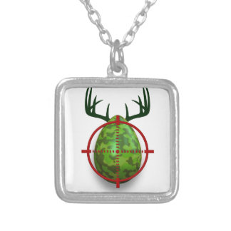 easter egg shooter, funny easter deer gift desgin silver plated necklace