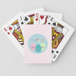 Easter Egg Springtime Lavender Blush Playing Cards