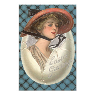 Easter Egg Victorian Woman Photo Print