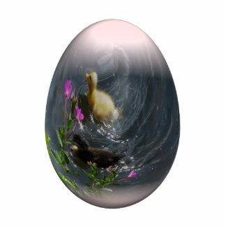 easter egg with ducklings photo cut out