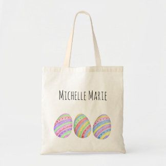 Easter Egg with Name Tote Bag