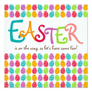 EASTER Eggs 13 Cm X 13 Cm Square Invitation Card