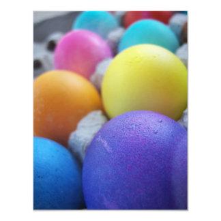 "Easter Eggs 4.25"" X 5.5"" Invitation Card"