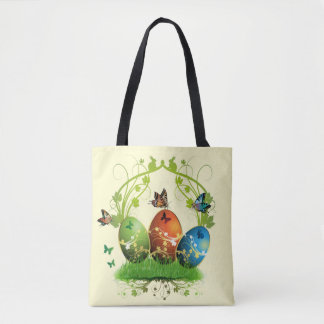 Easter Eggs and Butterflies Tote Bag