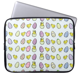 Easter Eggs and Chicks Laptop Sleeve