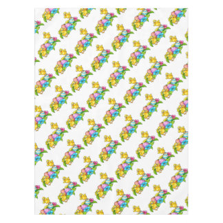 Easter Eggs and Chicks Tablecloth