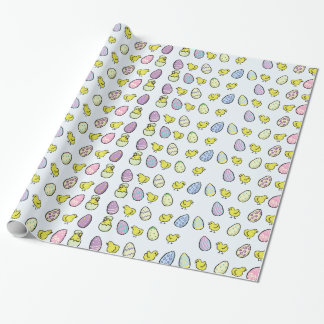 Easter Eggs and Chicks Wrapping Paper