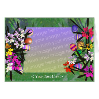 Easter Eggs and Flowers (photo frame) Card