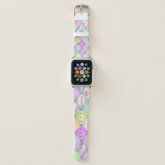 Easter Eggs Apple Watch Leather Band