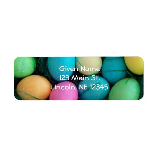 Easter Eggs Avery Label
