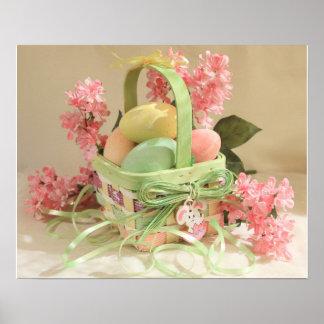 Easter Eggs Basket Poster