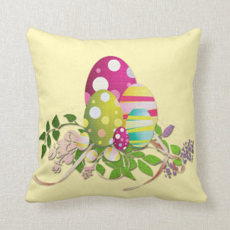 Easter Eggs Decorative Spring Throw Pillow