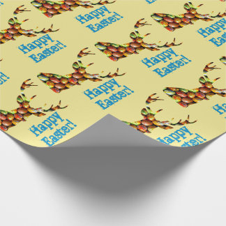 Easter eggs deer wrapping paper
