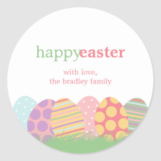 Easter Eggs Favor Stickers or Gift Tag Stickers