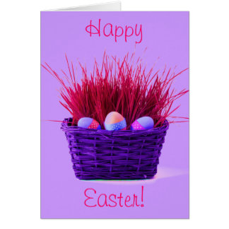 Easter Eggs in Basket XI Greeting Card