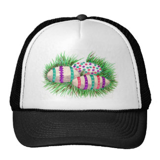 Easter Eggs in Grass Hat