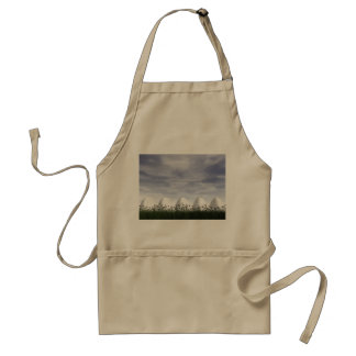 Easter eggs in nature by cloudy day - 3D render Standard Apron